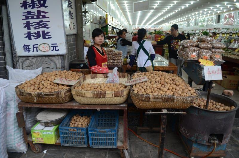 Mercado callejero de Xian imagen de archivo