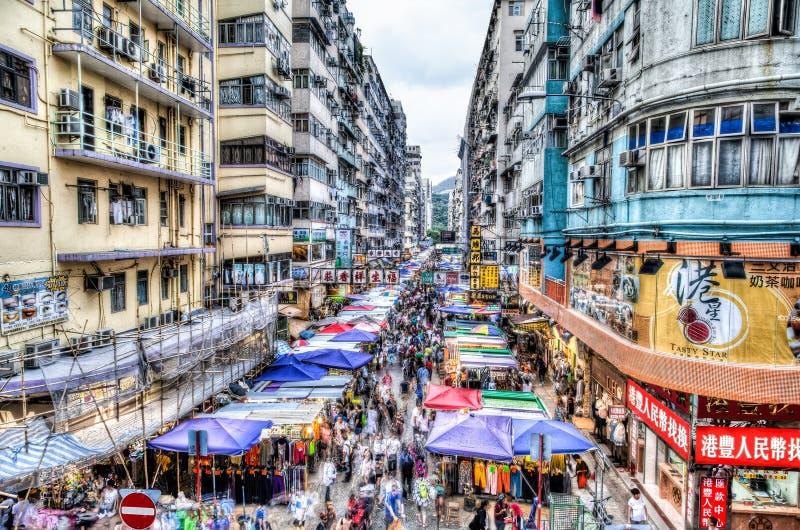 Mercado callejero en Hong Kong, China foto de archivo libre de regalías