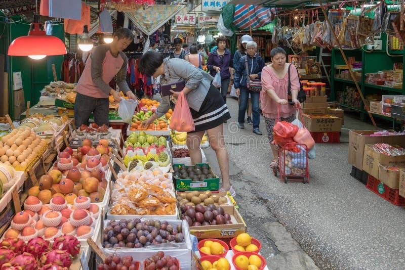 Mercado callejero Hong Kong fotos de archivo libres de regalías