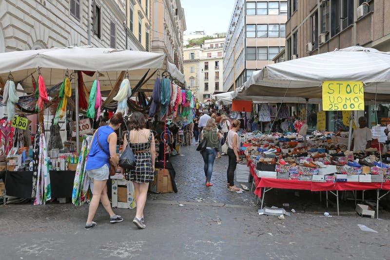 Mercado callejero Roma fotos de archivo