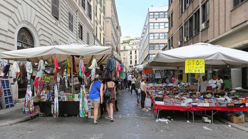 Mercado callejero Roma fotografía de archivo libre de regalías