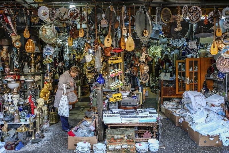 Mercado central em Atenas, Grécia imagens de stock