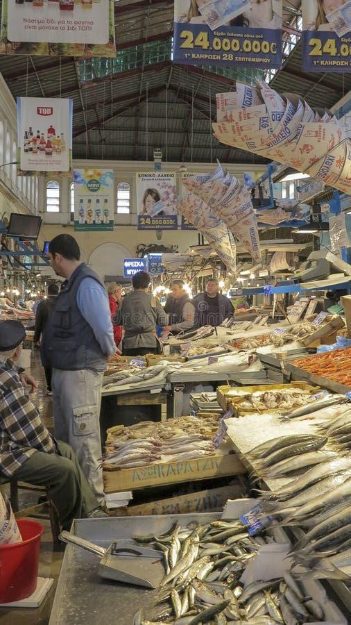 Mercado central em Atenas, Grécia imagens de stock royalty free