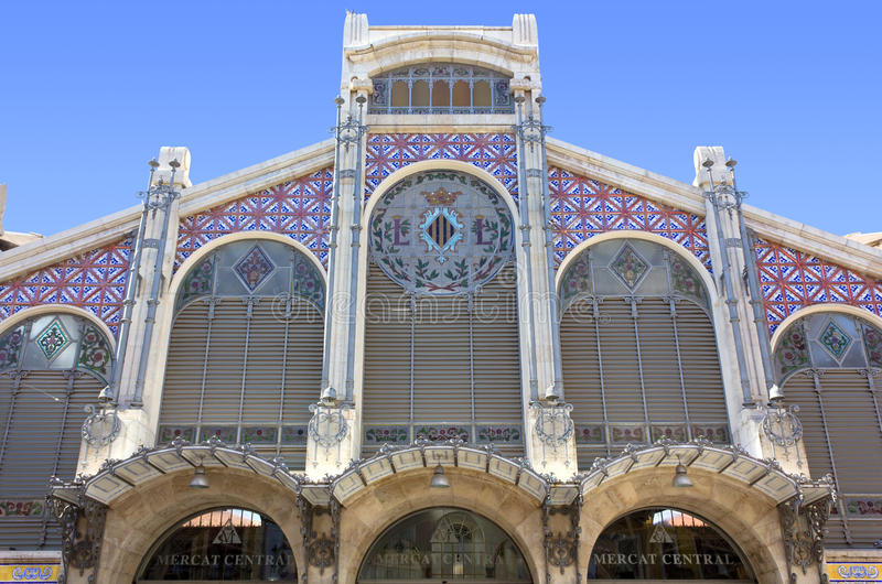 Mercado central em Valência, Espanha fotografia de stock royalty free