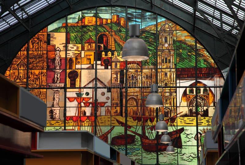 Mercado central en Málaga, España imagenes de archivo
