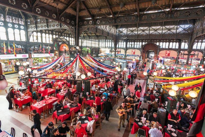 Mercado central en Santiago fotografía de archivo libre de regalías