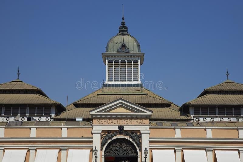 Mercado central, Santiago, Chile royaltyfri foto