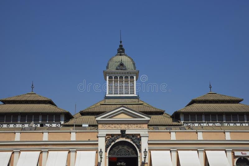 Mercado central, Santiago, Chile arkivbild