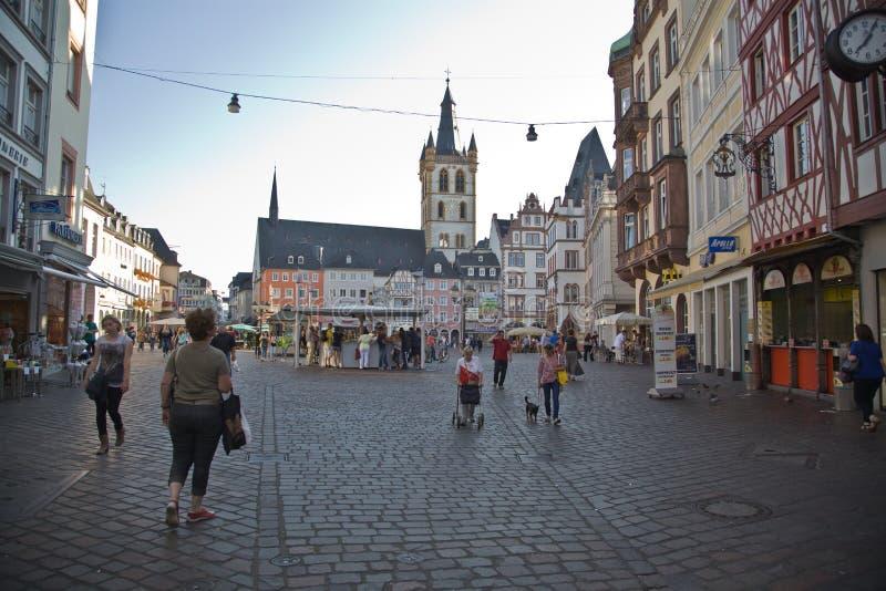 Mercado central, Trier imagem de stock
