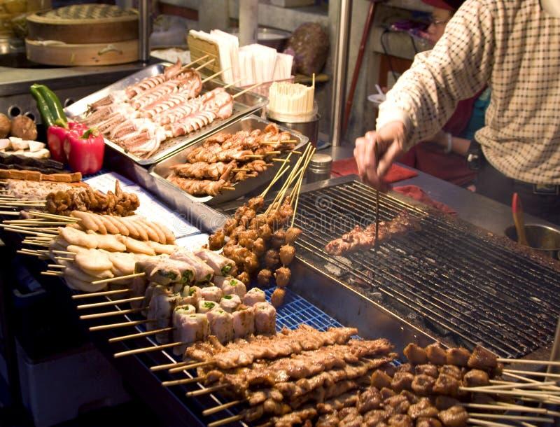 Mercado chinês do alimento imagem de stock