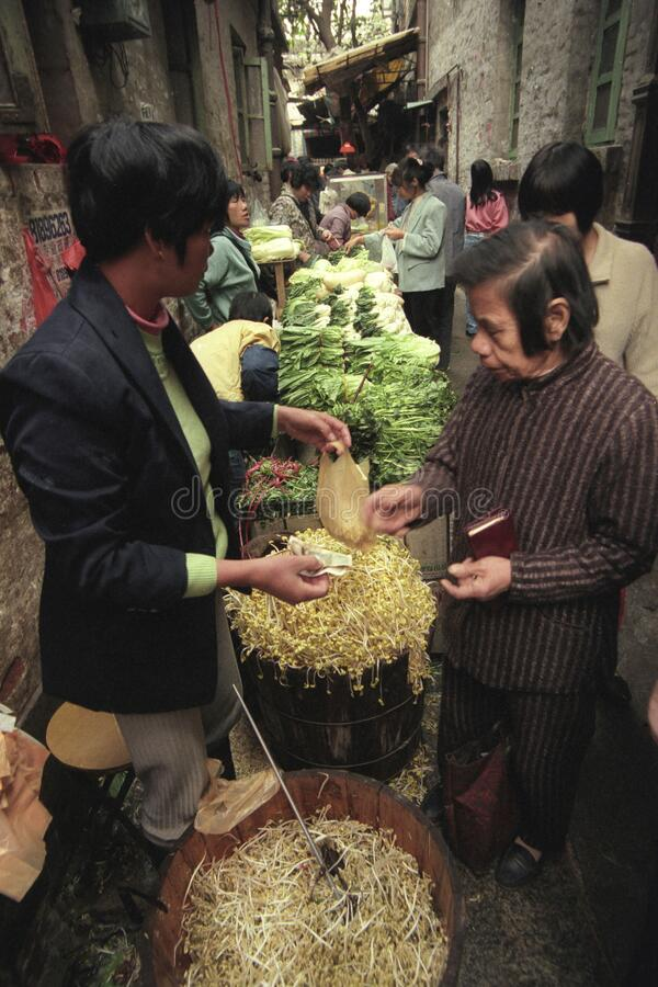 MERCADO CHINA CANTON GUANGZHOU fotos de archivo libres de regalías