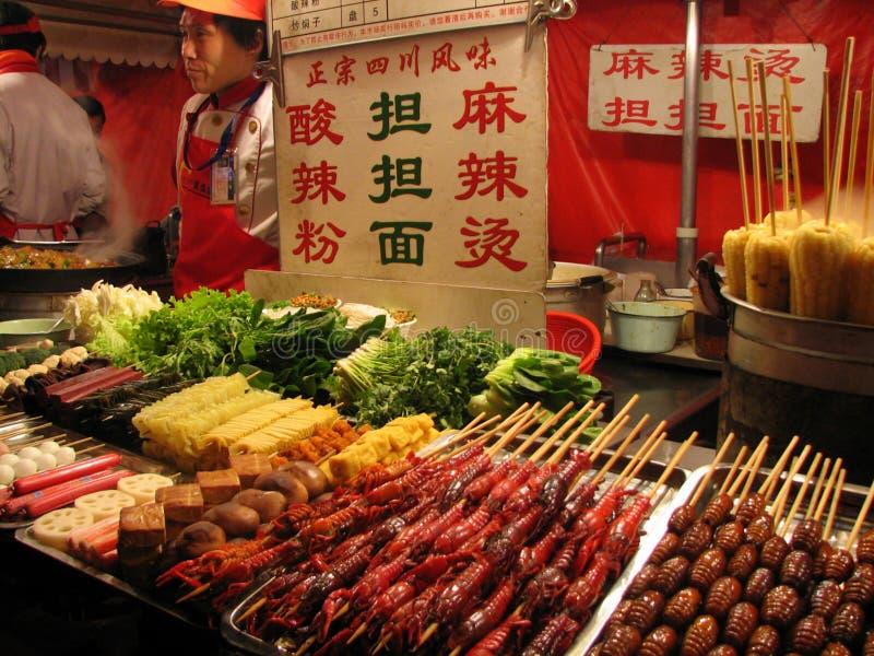 Mercado China do alimento fotografia de stock