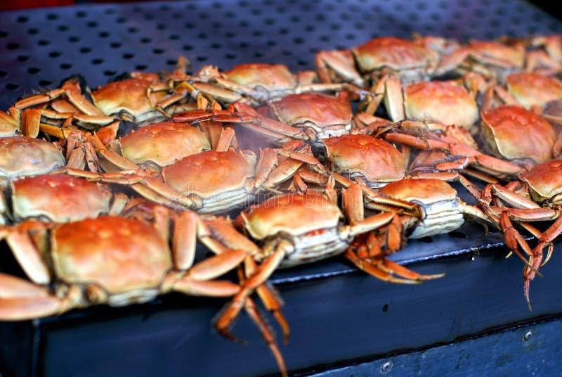Mercado chino del alimento - cangrejos fotos de archivo libres de regalías