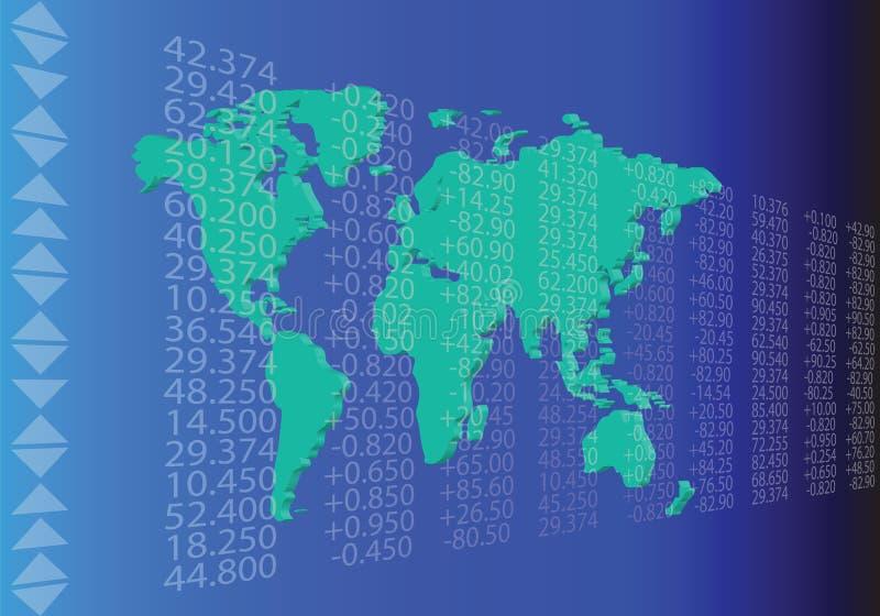 Mercado comercial global stock de ilustración
