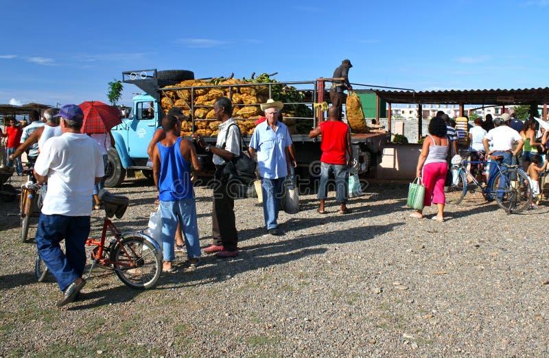 Mercado confidencial dos farmer´s, Havana, Cuba foto de stock