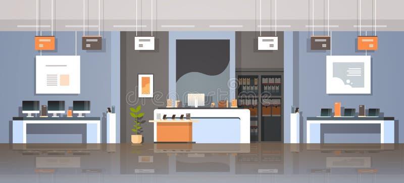 Mercado creativo del diseño de la tecnología de la tienda de la calculadora numérica del ordenador portátil de la pantalla de los stock de ilustración