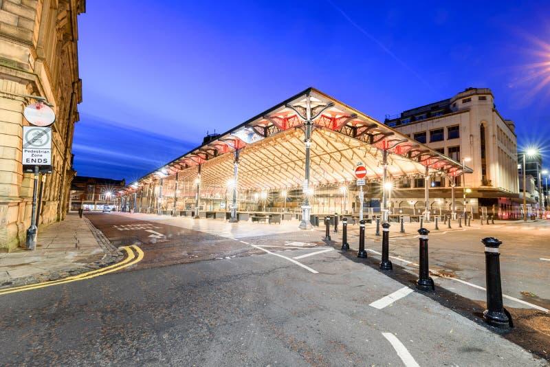Mercado cubierto Preston Lancashire foto de archivo libre de regalías