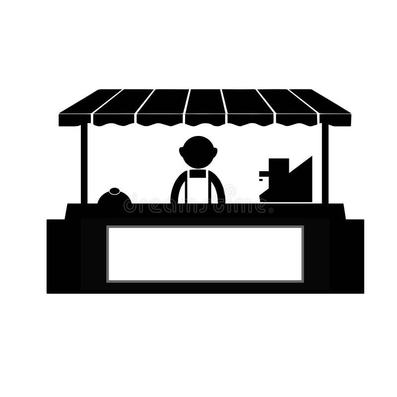 Mercado da cabine da loja da tenda do negócio ilustração do vetor