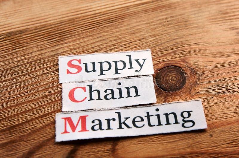 Mercado da cadeia de aprovisionamento de SCM foto de stock