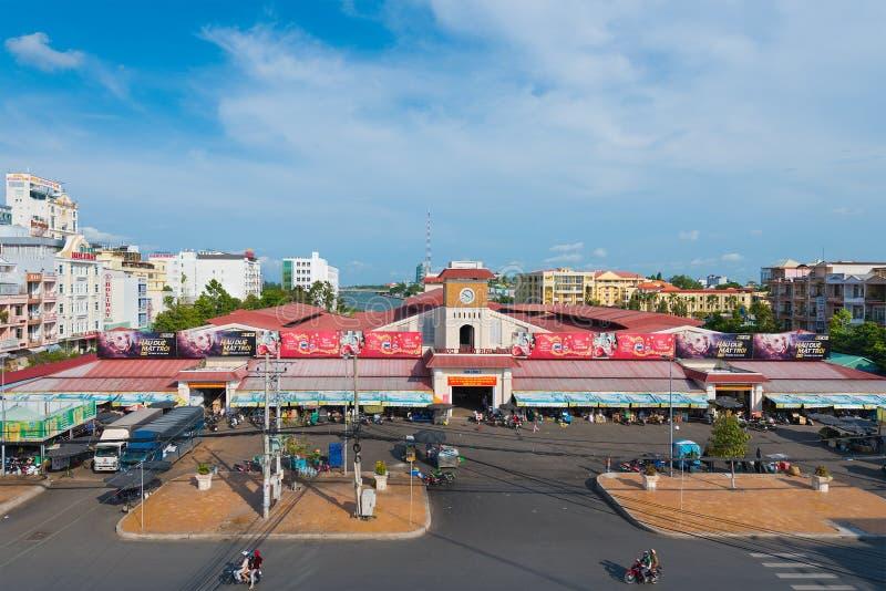 Mercado da cidade central, cidade de Can Tho, Vietname foto de stock