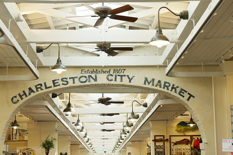 Mercado da cidade de Charleston fotografia de stock