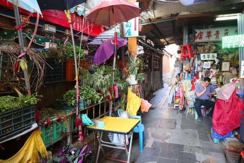 Mercado da erva de Taipei imagem de stock