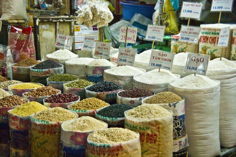 Mercado da especiaria de Vietnam imagem de stock