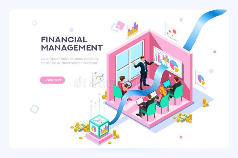 Mercado da finança virtual futura ilustração royalty free