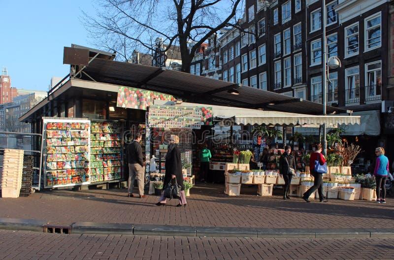 Mercado da flor de Amsterdão imagem de stock