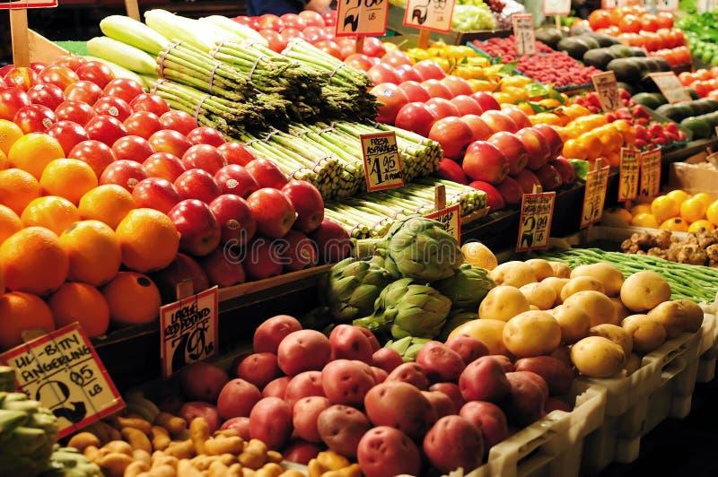 Mercado da fruta e verdura fotos de stock royalty free