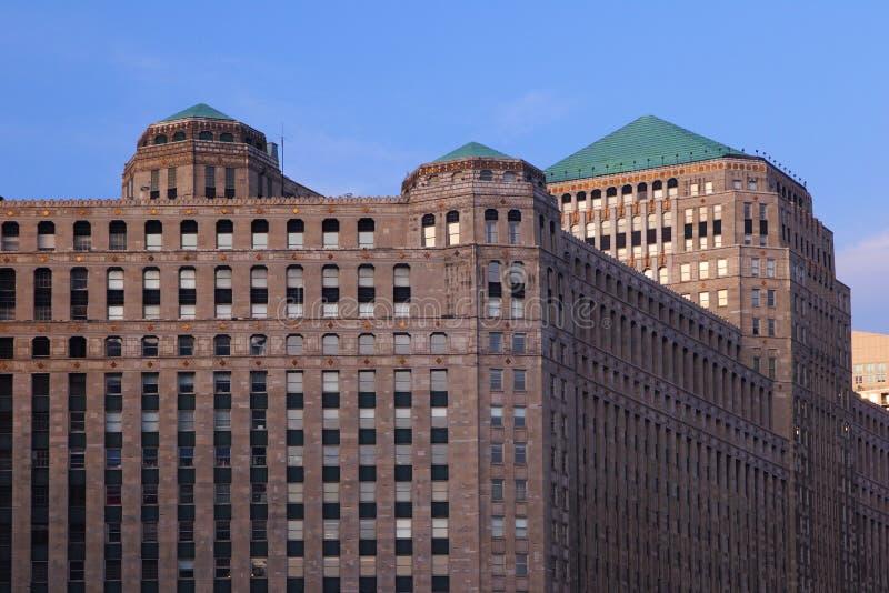 Mercado da mercadoria, arquitetura gótico de Chicago fotos de stock royalty free