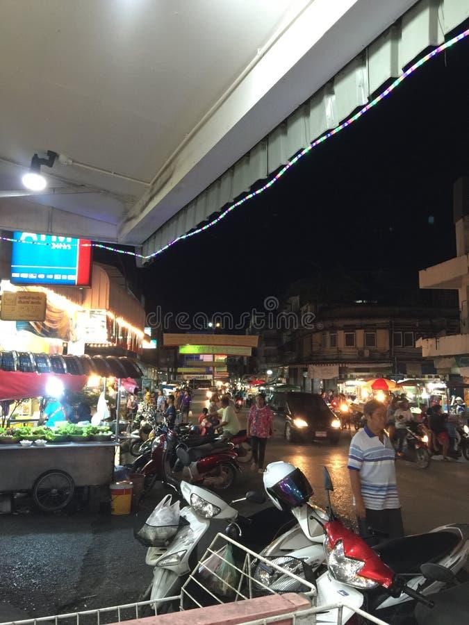 Mercado da noite fotografia de stock