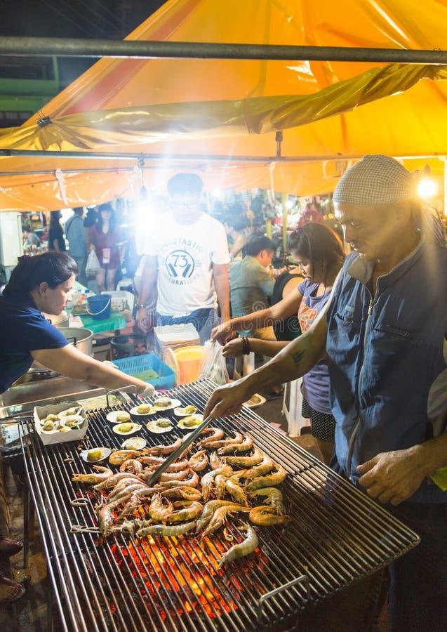 Mercado da noite de Krabi fotografia de stock