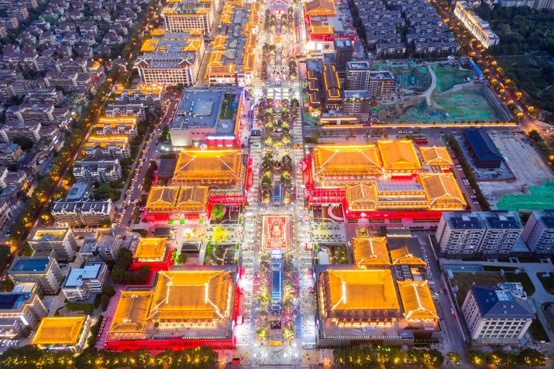 Mercado da noite de Xian fotos de stock royalty free