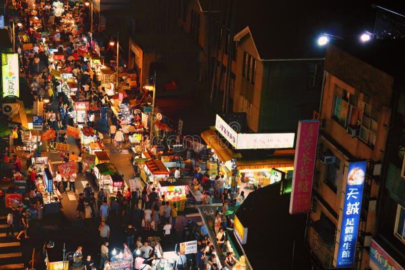 Mercado da noite do turista da rua de Huaxi foto de stock