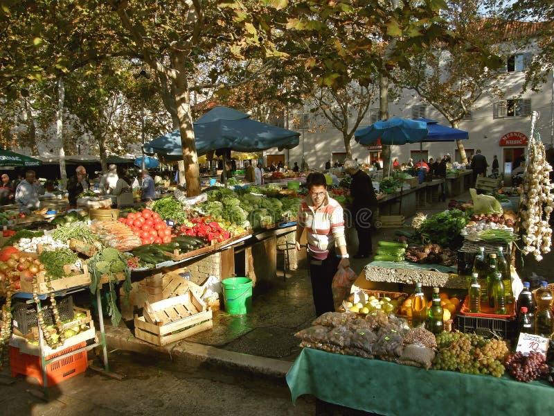 Mercado da separação (Croácia) fotografia de stock royalty free