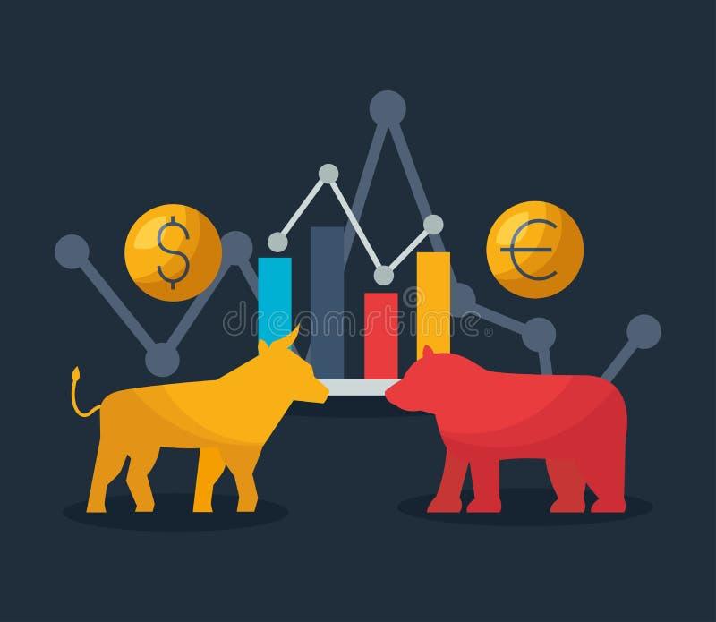 Mercado de acción financiero libre illustration