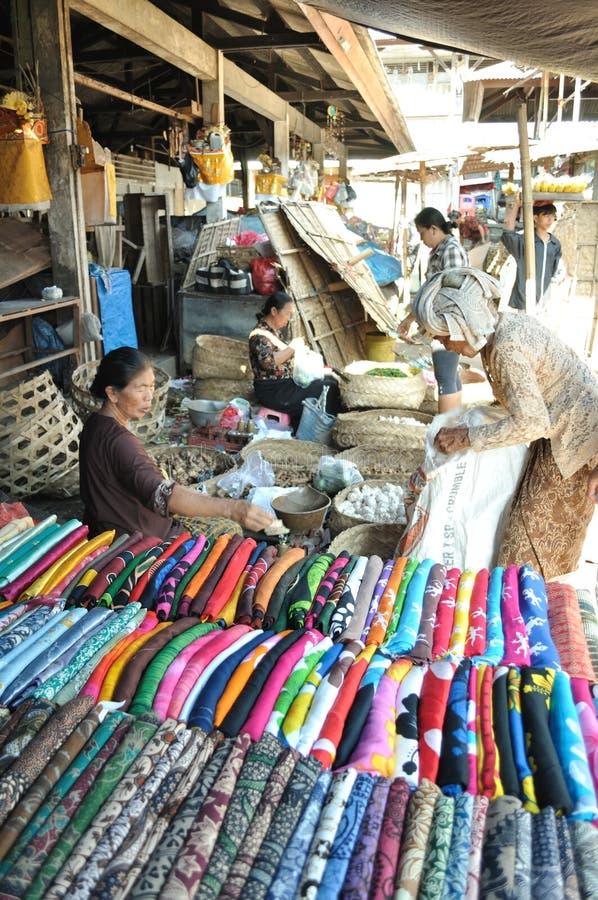 Mercado de Bali Ubud imagens de stock
