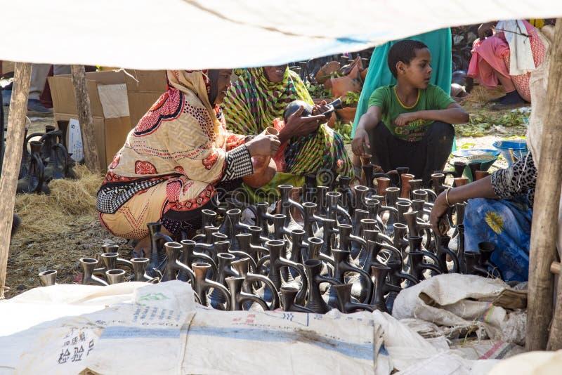 Mercado de Bati, Etiopía fotografía de archivo
