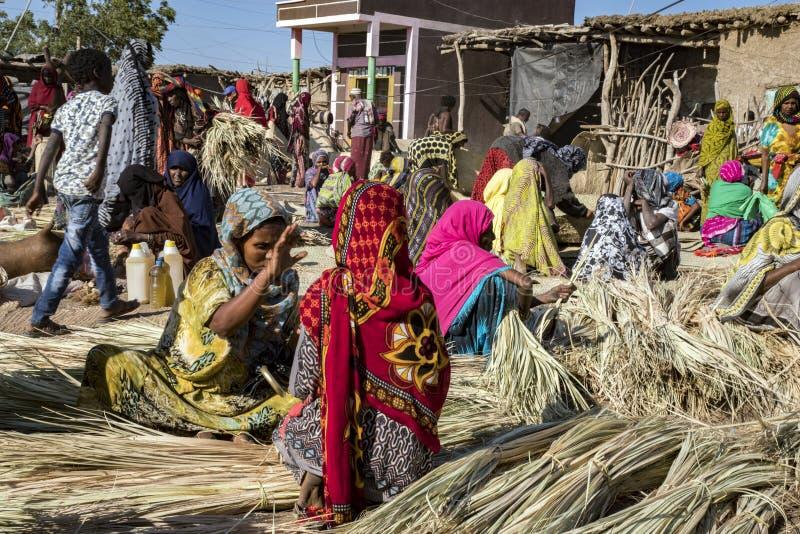 Mercado de Bati, Etiopía foto de archivo libre de regalías