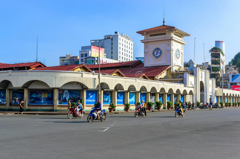 Mercado de Ben Thanh imagens de stock royalty free