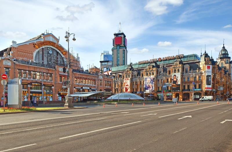 Mercado de Bessarabskiy em Kiev fotos de stock