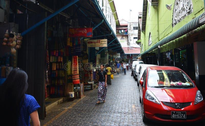 Mercado de Bogyoke fotografía de archivo libre de regalías