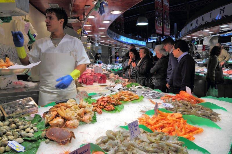 Mercado de Boqueria, Barcelona fotografia de stock