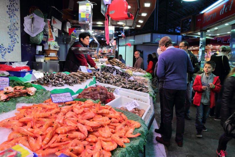 Mercado de Boqueria do La fotografia de stock royalty free