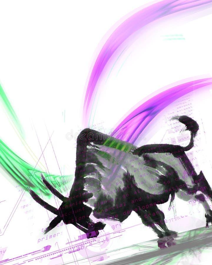 Mercado de Bull ilustração royalty free
