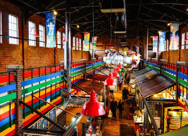 Mercado de ByWard en Ottawa, Canadá imagen de archivo libre de regalías