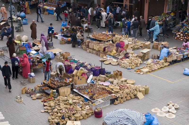 Mercado de C4marraquexe Marrocos fotos de stock