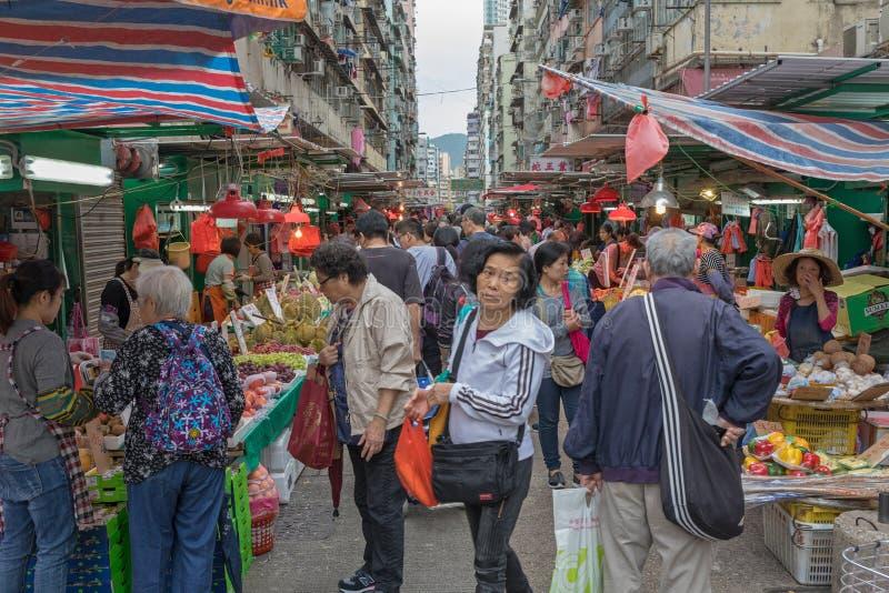 Mercado de calle apretado fotos de archivo libres de regalías