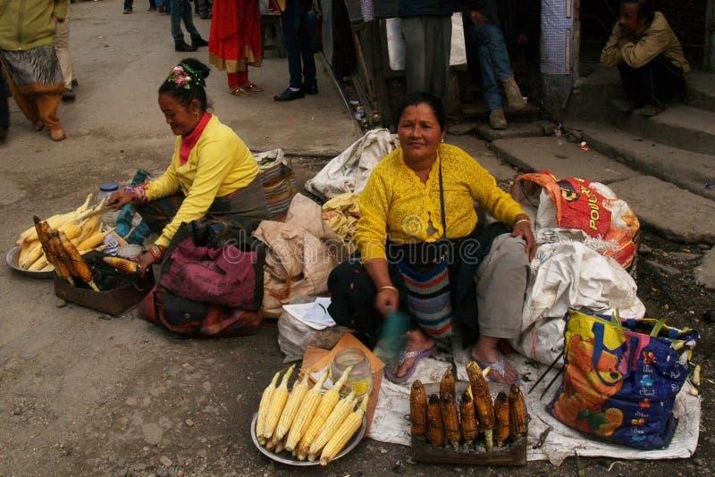 Mercado de calle en la India fotografía de archivo libre de regalías